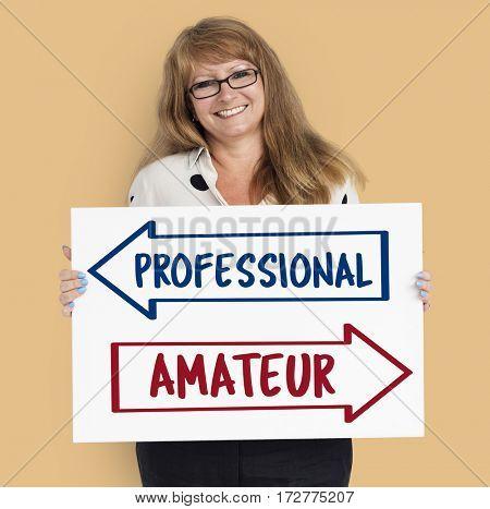 Arrows Opposite Choice Professional Amateur