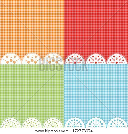 Set of 4 colorful wallpapers. Vector background