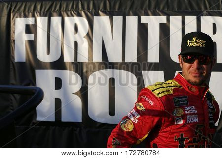 February 17, 2017 - Daytona Beach, Florida, USA: Martin Truex Jr. (78) prepares for practice for the Advance Auto Parts Clash at Daytona at Daytona International Speedway in Daytona Beach, Florida.