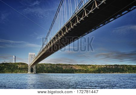 George Washington Bridge in New York City - HDR image.