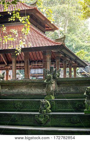 Monkey temple in Ubud, Bali