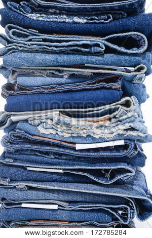 Jeans stacked