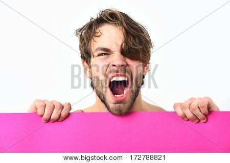 Bearded Man, Caucasian Sexy Angry Macho
