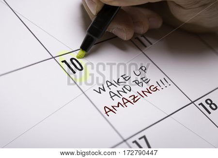 Wake Up and Be Amazing!!!