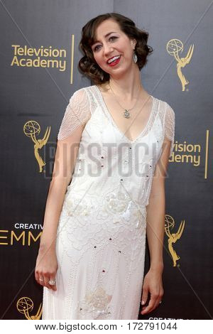 LOS ANGELES - SEP 11:  Kristen Schaal at the 2016 Primetime Creative Emmy Awards - Day 2 - Arrivals at the Microsoft Theater on September 11, 2016 in Los Angeles, CA