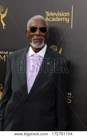 LOS ANGELES - SEP 11:  Morgan Freeman at the 2016 Primetime Creative Emmy Awards - Day 2 - Arrivals at the Microsoft Theater on September 11, 2016 in Los Angeles, CA