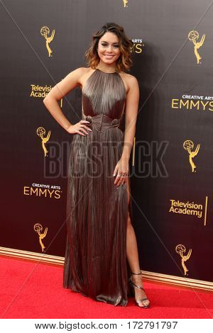 LOS ANGELES - SEP 11:  Vanessa Hudgens at the 2016 Primetime Creative Emmy Awards - Day 2 - Arrivals at the Microsoft Theater on September 11, 2016 in Los Angeles, CA