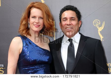 LOS ANGELES - SEP 11:  wife, Oscar Nunez at the 2016 Primetime Creative Emmy Awards - Day 2 - Arrivals at the Microsoft Theater on September 11, 2016 in Los Angeles, CA