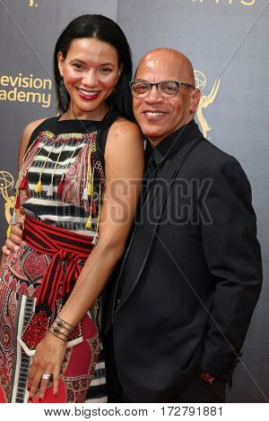 LOS ANGELES - SEP 10:  Wife, Ricky Minor at the 2016 Creative Arts Emmy Awards - Day 1 - Arrivals at the Microsoft Theater on September 10, 2016 in Los Angeles, CA