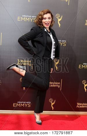 LOS ANGELES - SEP 10:  Rachel Bloom at the 2016 Creative Arts Emmy Awards - Day 1 - Arrivals at the Microsoft Theater on September 10, 2016 in Los Angeles, CA