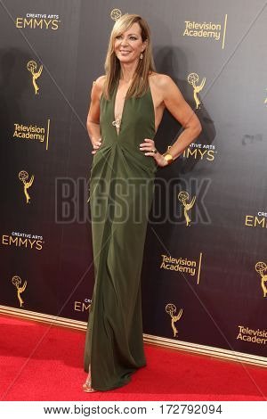LOS ANGELES - SEP 10:  Allison Janney at the 2016 Creative Arts Emmy Awards - Day 1 - Arrivals at the Microsoft Theater on September 10, 2016 in Los Angeles, CA
