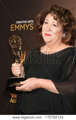LOS ANGELES - SEP 11:  Margo Martindale at the 2016 Primetime Creative Emmy Awards - Day 1 - Press Room at the Microsoft Theater on September 11, 2016 in Los Angeles, CA