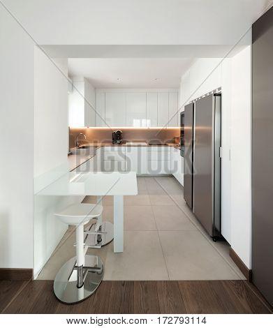 Interior of apartment, modern kitchen