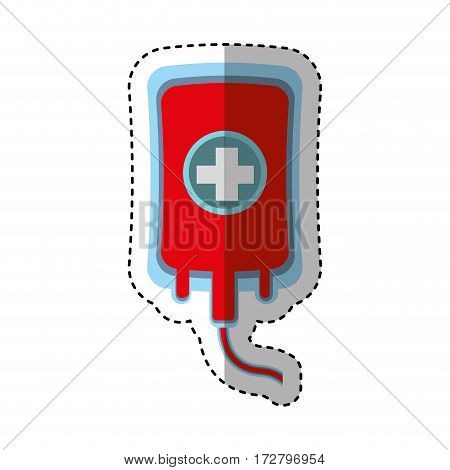 blood donation bag isolated icon vector illustration design