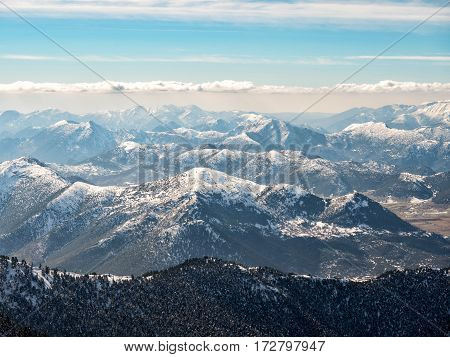 Landscape Of Mountains With Snow