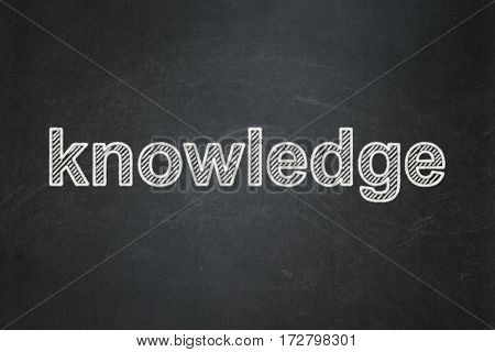Education concept: text Knowledge on Black chalkboard background
