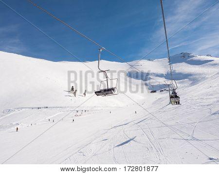 Ski Lift In Kalavrita Ski Center