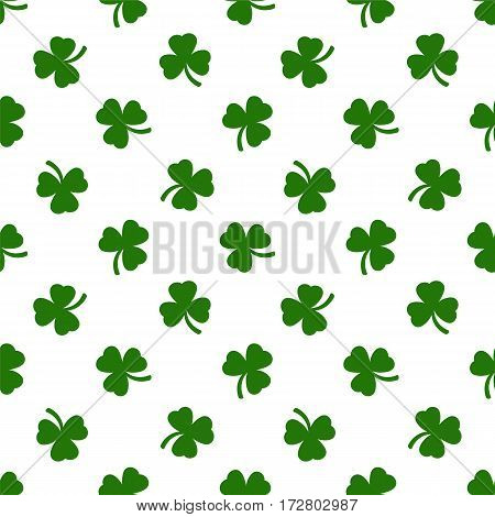 Clover leaves background. St. Patricks day background. Seamless pattern. Vector illustration.