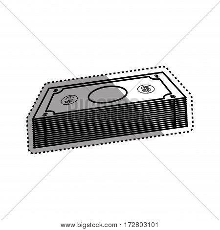 Billets of money icon vector illustration graphic design