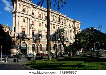 Cavour on the square of its name with court in Rome Italy