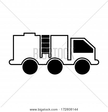 oil truck isolated icon vector illustration design