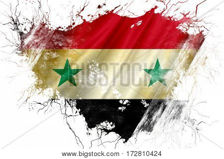 Grunge old Syria  flag