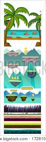 Nature Scenes Game Background.Suitable for side scrolling, action, and adventure game elements