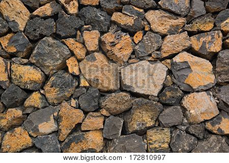 Part of Medieval stone wall stone background