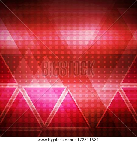 Abstract red connection structure as connection concept on color background