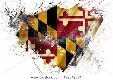 Grunge old maryland flag