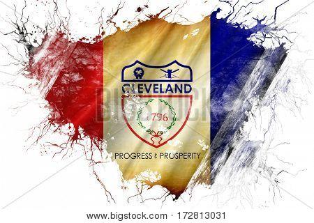 Grunge old Cleveland flag
