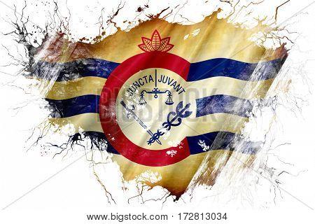 Grunge old Cincinnati flag