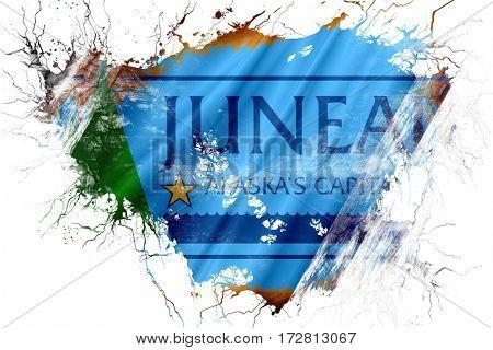 Grunge old Juneau flag