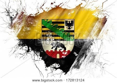Grunge old Saxony anhalt, sachsen flag