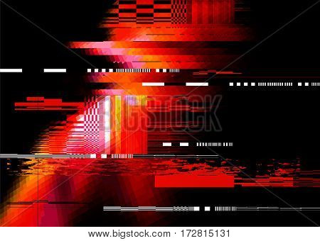 A redglitch noise distortion texture background. Vector illustration