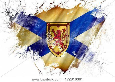 Grunge old Nova scotia flag