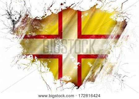 Grunge old Dorset flag