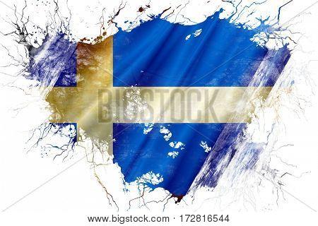 Grunge old Shetland flag