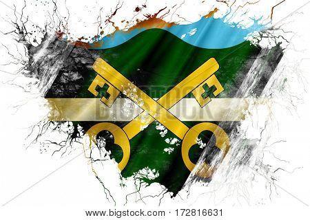 Grunge old Petersfield flag
