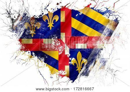 Grunge old bourgogne flag