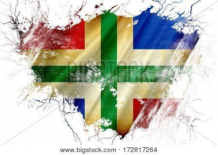 Grunge old Groningen flag