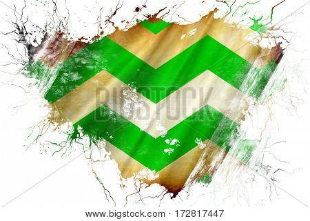 Grunge old Westland flag