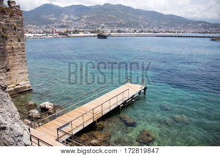 Sea And Mountains View From Alanya Castle