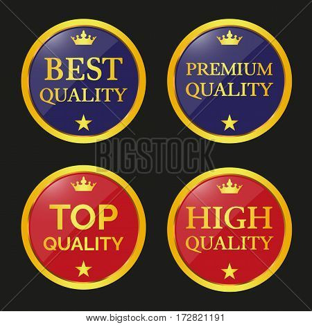 Collection Of Quality Badges And Labels.