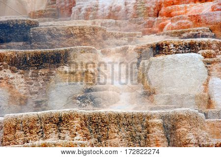 Colorful Terraces Of Mammoth