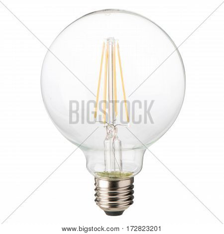 Filament Led Bulb Isolated On White Background. Led Light Bulb. Led Lights. Clipping Path