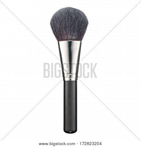 Foundation Makeup Brush Isolated White Background. Eyeshadow. Powder Brush. Eyeshadow. Studio Retrac