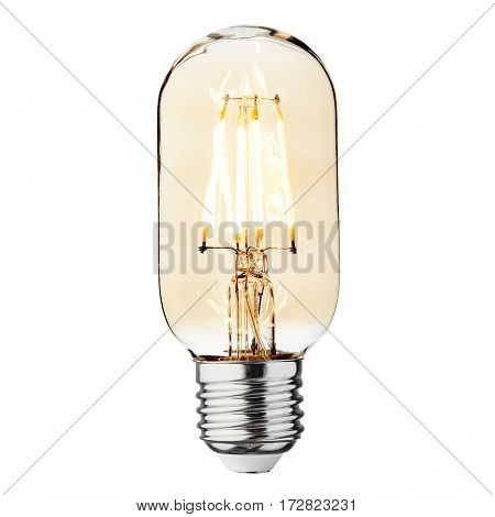 Led Bulb Isolated On White Background. Led Lightbulb. Led Light. Glass Led Bulb