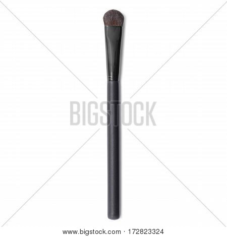 Black Makeup Brush Isolated White Background. Eyeshadow Brush. Foundation Powder Brush. Studio Retra