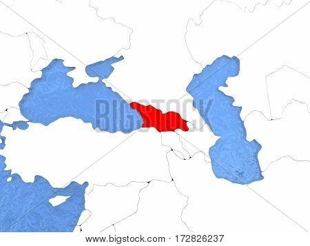 Georgia On Globe